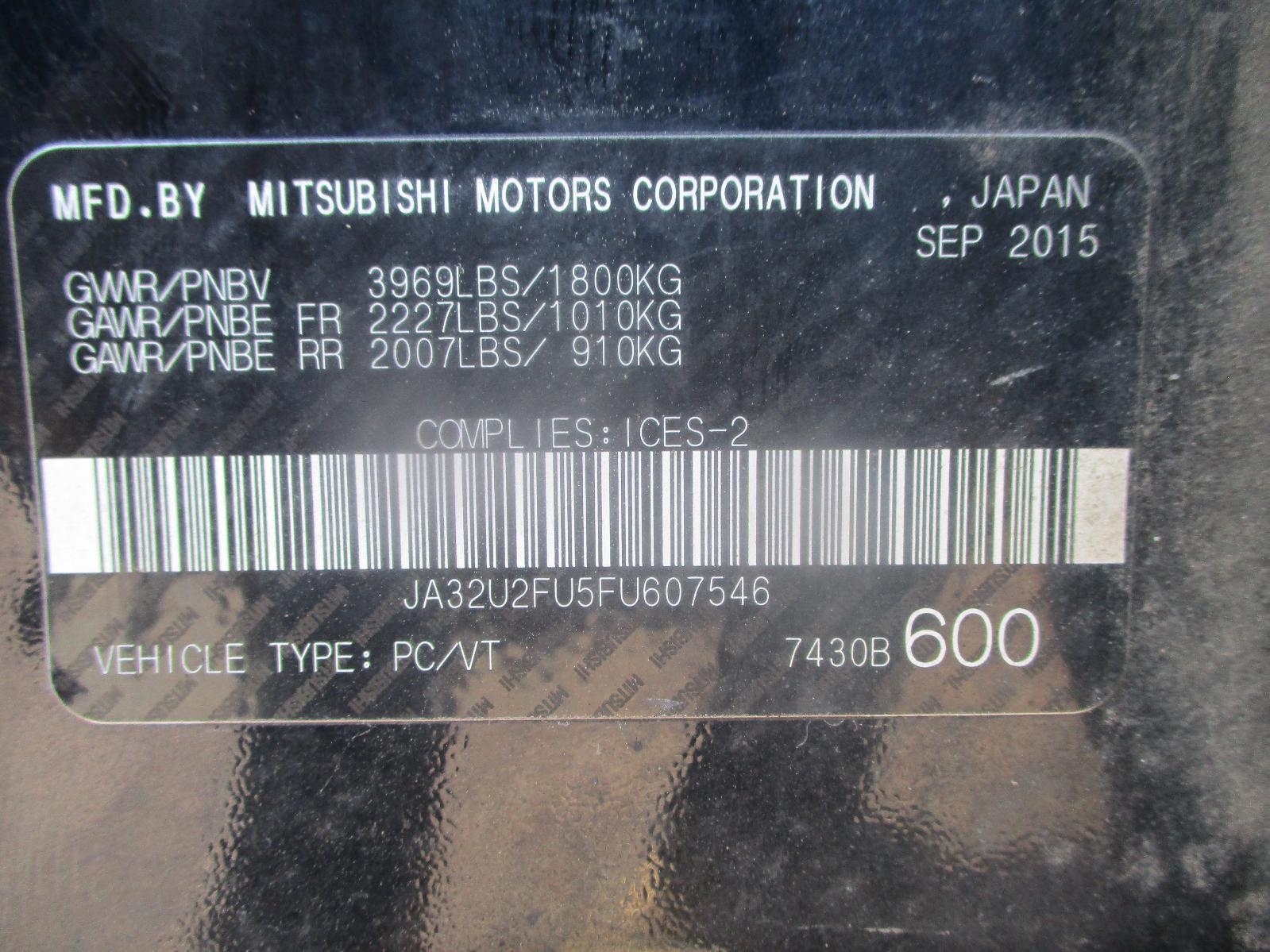 2015 Mitsubishi Lancer ES – #J74686 – Rebuilt full